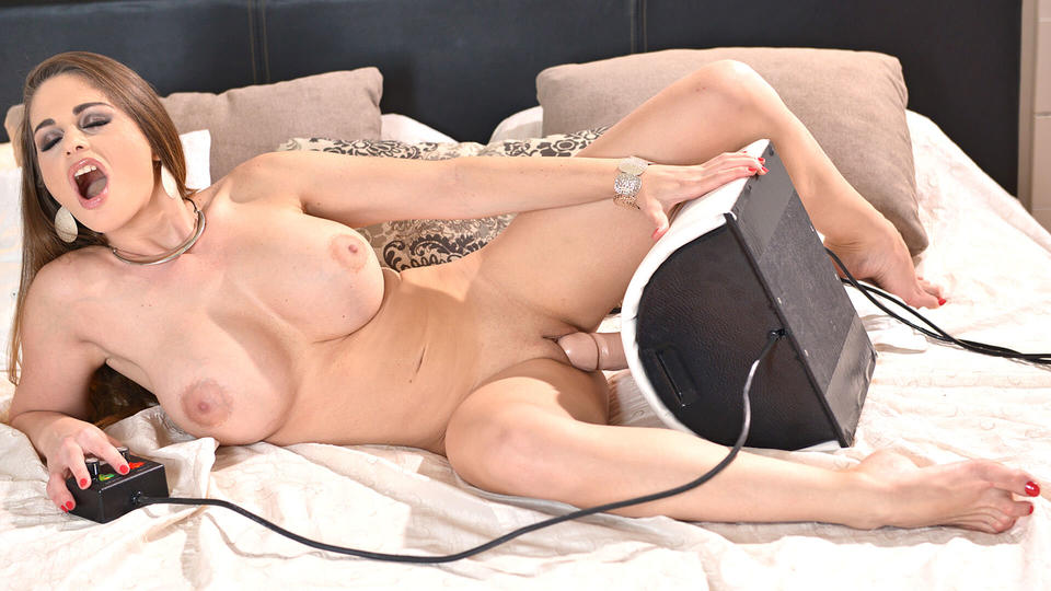 Hungarian Busty Pornstar Gets Wild Ass Gape From Sybian Ride