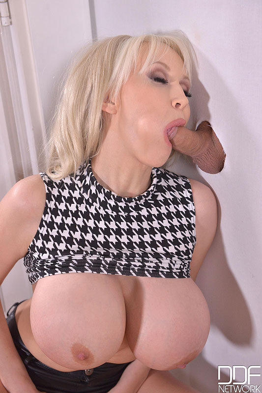 image Sucking her dildo before inserting in her tight pussy