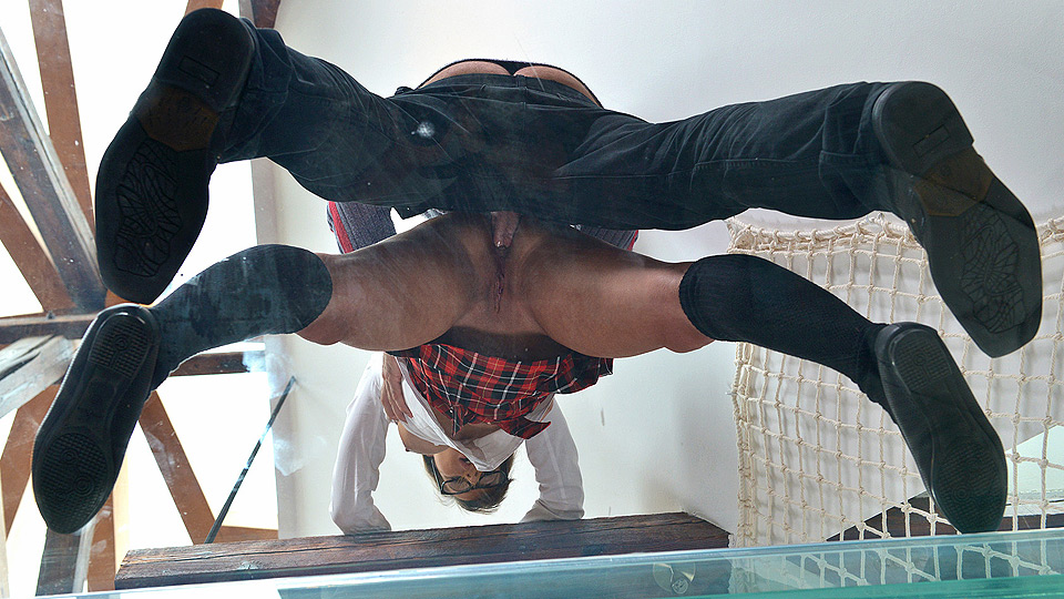 Leaking Roof: Submissive Schoolgirl Gets Her Ass Crammed And Spanked