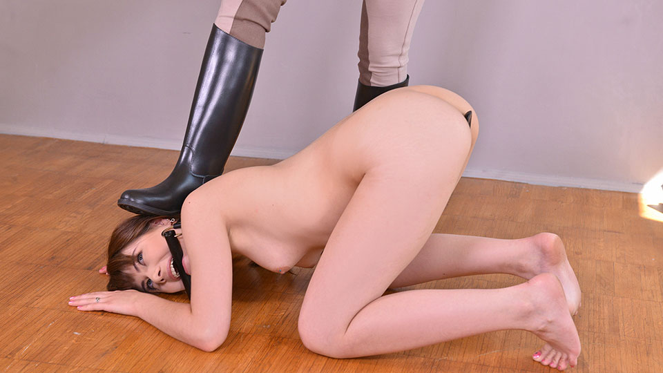 Equestrian Spanking - A Petite Teen's Anal Insertion Experience