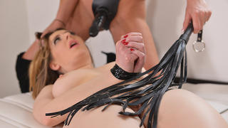 Donna Bell aka Dona Bell and Samantha Bentley - Primed For Anal Cramming - Dominatrix Disciplines Her Sub
